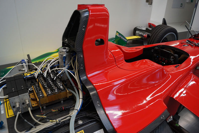 CSM measurement mounted on Schaeffler ABT Formula E race car