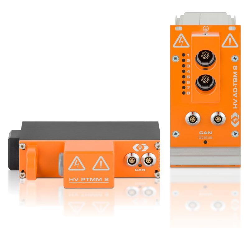 HV-safe measurement modules for test drives and test benches